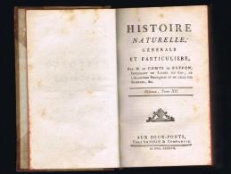 BUFFON, Histoire Naturelle, Générale Et Particulière  Oiseaux Tome 12 Ed. Aux Deux-Ponts Sanson Et Cie  1787 - 1701-1800