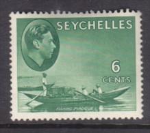Seychelles, George VI 1941, 6 Cents, Greyish-green SG 137a,  MH * - Seychelles (...-1976)
