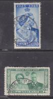 Swaziland, George VI, Silver Wedding 1 1/2d, Royal Visit 2d, PIGGS PEAK C.d.s. - Swaziland (...-1967)