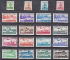 Lebanon: 1952 Definitive Set - (cedar Tree, Amphitheatre, Beaufort Castl)e  & Air - )Beirut Airport) Set MH * - Lebanon