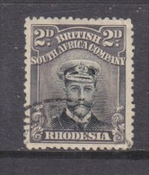 British South Africa Co. Rhodesia  1913 -22 George V Admiral, 2dblack + Brown-grey, Die III, Perf 14, , C.d.s. Used - Southern Rhodesia (...-1964)