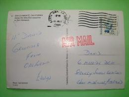 "USA 1988 Postcard ""coast At San Clemente - Palm Trees"" To England - Robert Milikan - Etats-Unis"