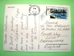 "USA 1988 Postcard ""Medugorje - Bosnia - Virgin Statue Church Cross"" To England - Plane - Covers & Documents"