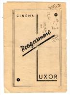 Mars 1935 - Programme Cinéma LUXOR - Imprimerie  SAMIE Bordeaux - Programmes