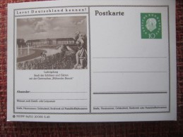 Germany Pws 1960 BRD Bildpostkarte Ludwigsburg Schloss Castle Ganzsache Entier Postal Stationery Card A 1,50 Euro - [7] République Fédérale