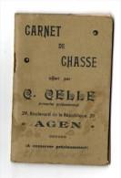 1939 Carnet De Chasse - CELLE Agen - Publicités Armes - Old Paper