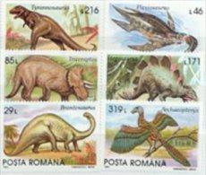 Romania 1993 Set/6 Dinosaurs Prehistoric #3845-50 - 1948-.... Republics