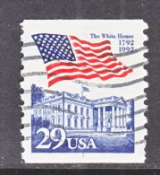 U.S.   2609   PLATE  1   (o)       WHITE  HOUSE   FLAG - Coils (Plate Numbers)