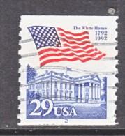 U.S.   2609   PLATE  2   (o)       WHITE  HOUSE   FLAG - Coils (Plate Numbers)