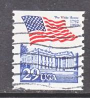 U.S.   2609   PLATE  3   (o)       WHITE  HOUSE   FLAG - Coils (Plate Numbers)