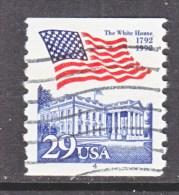 U.S.   2609   PLATE  4   (o)       WHITE  HOUSE   FLAG - Coils (Plate Numbers)