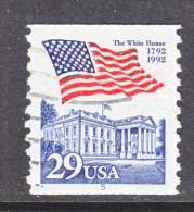 U.S.   2609   PLATE  5   (o)       WHITE  HOUSE   FLAG - Coils (Plate Numbers)