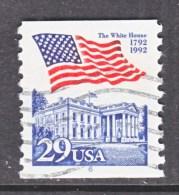 U.S.   2609   PLATE  6   (o)       WHITE  HOUSE   FLAG - Coils (Plate Numbers)