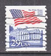 U.S.   2609   PLATE  7   (o)       WHITE  HOUSE   FLAG - Coils (Plate Numbers)