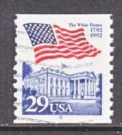 U.S.   2609   PLATE  8   (o)       WHITE  HOUSE   FLAG - Coils (Plate Numbers)