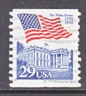 U.S.   2609   PLATE  9   (o)       WHITE  HOUSE   FLAG - Coils (Plate Numbers)