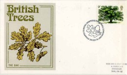 1973 OAK TREE FDC - STAMPEX HORTICULTURAL HALL P/M - FDC