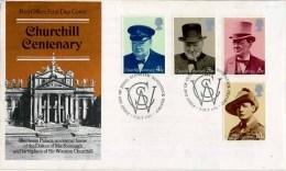 1974 CHURCHILL FDC - BLENHEIM P/M - 1971-1980 Decimal Issues