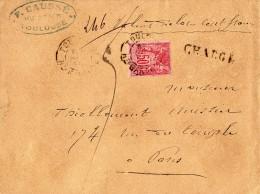 TB 309 - TB Type Sage Sur Lettre Chargée OB  TOULOUSE   Pour  PARIS - Marcophilie (Lettres)