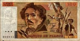 100 F  DELACROIX..Y.185...No 603934....1991...... - 1962-1997 ''Francs''