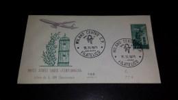 SP-000006 FDC POSTA AEREA SERIE CAMPIDOGLIO VAL.DA LIRE 100 FLUORESCENTE - TIMBRO 1´ GIORNO - 6. 1946-.. Repubblica