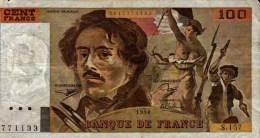 100 F  DELACROIX. .S.157....No 771133....1990...... - 1962-1997 ''Francs''