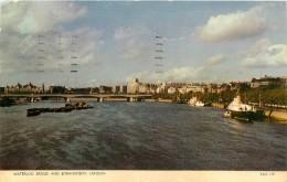 LONDRES     WATERLOO BRIDGE - River Thames