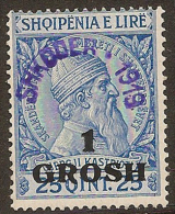 ALBANIA 1919 1gr On 25q SG 103 HM #DR13 - Albania