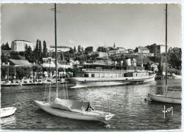 CPSM 74  THONON LES BAINS LE PORT 1964  Grand Format 15 X 10,5 - Thonon-les-Bains