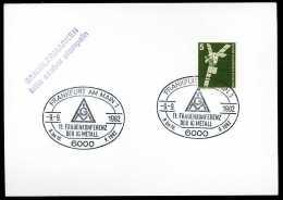 89079) BRD - SoST-Beleg - 6000 FRANKFURT AM MAIN 1 Vom 09.09.1982 - 11. Frauenkonferenz Der IG Metall - [7] République Fédérale