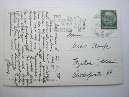 1938, Propagandastempel  Aus  MÜNCHEN  , Klarer Stempel Auf Karte