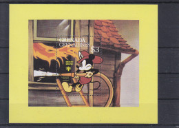 """WG, Grenada - Block """"Mickey Mouse Als Feuerwehrmann"""", Postfrisch, ** - Grenada (1974-...)"""