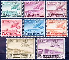 IRAQ 1949 Airmail COMPLETE SET MNH ScottC1-C8 CV$25 - Iraq