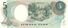 PHILIPPINES P. 143b 5 P 1969 UNC - Filippine