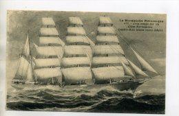 MARINE 187 Bateau Voilier Quatre Mats Gros Temps Cotes Normandes La Normandie Pittoresque  1910 - Voiliers
