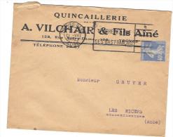 Courrier Enveloppe Publicitaire Quincaillerie A VILCHAIR 123 Rue Notre Dame TROYES 10 Tel 22 67 - Autres