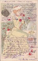 """¤¤  -  Carte D´ Illustrateur  """" Lucien ROBERT """" Style Art Nouveau  -  Monogramme   -  ¤¤ - Illustrateurs & Photographes"""