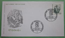 Brief FDC Briefmarken Deutschland Schuhmacher Berlin 1969 Ersttagsbrief - Berlin (West)