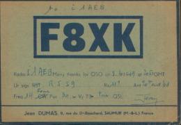 QSL RADIOAMATORI FRANCE F8XK To RADIO I1AEB - Radio-amateur