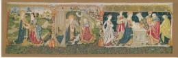 Les Tapisseries De Notre Dame De Beaune Nativite La Circoncision, Jesus Christ  29X10cm Atypical Format Postcard -181 - Pinturas, Vidrieras Y Estatuas