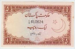 Pakistan 1 Rupies 1973 Pick 10b XF - Pakistán