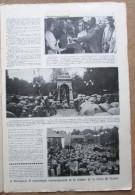 """Magazine Avec Article """"A Rossignol, Le Monument Commémoratif , Remise Croix De Guerre"""" 1927 - 1914-18"""