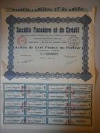 Actions Titres  Société Foncière Et De Crédit   émis Le 5 Janvier 1926 PARIS - Banque & Assurance