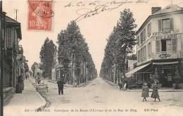 VERNON CARREFOUR DE LA ROUTE D'EVREUX ET LA RUE DE BIZY HOTEL DE L'OUEST D. BREANT 27 - Vernon