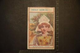 Chromo, Image, Publicité, Chocolat Guérin Boutron Folkore Les Coiffes Sainte Anne D'Auray Bretagne - Guerin Boutron