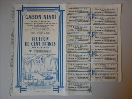 Actions Titres GABON-NIARI  Emis Le 3 Février 1948 - Afrique