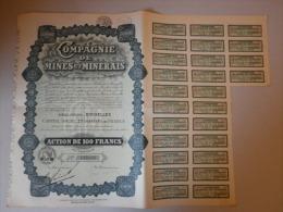 Actions Titres Compagnie De Mines Et Minerais émis Le 18 Avril 1930 à BRUXELLES - Mines