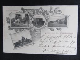 AK GROSS CHRISTINENBERG Bahnhof Kliniska Wielkie B.Gollnow 1900 ///  D*13846 - Pommern