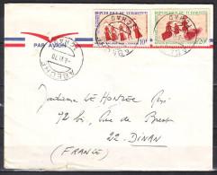 Lettre Cachet  ABECHE  Tchad  Le 8 VI 1970  Pour 22 DINAN  Par Avion PEINTURES RUPESTRES X 2 - Tsjaad (1960-...)