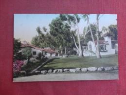 California> Santa Barbara   Hand Colored--- Bungalows El Encanto Hotel   ref 1494